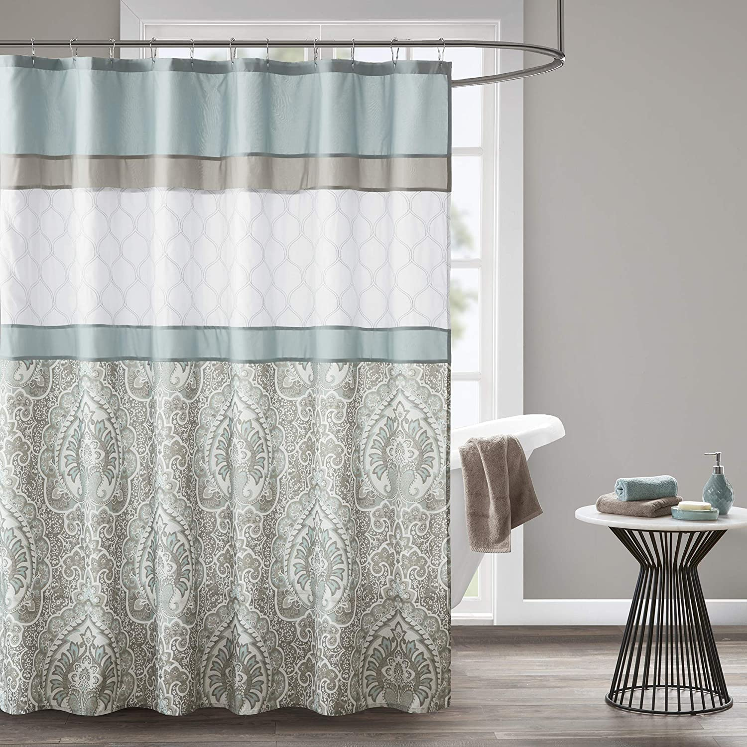 510 Design Popular products Shower Curtain Embroidery Credence Geometric Textured