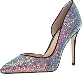 pink sparkly high heel shoes