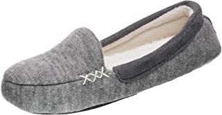 Isotoner Womens Microsuede & Heather Knit Marisol Moc