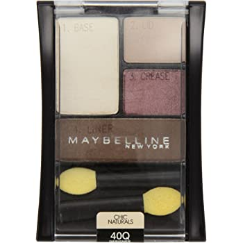 Maybelline New York Expert Wear Eyeshadow Quads, 40q Designer Chocolates Chic Naturals, 0.17 Ounce