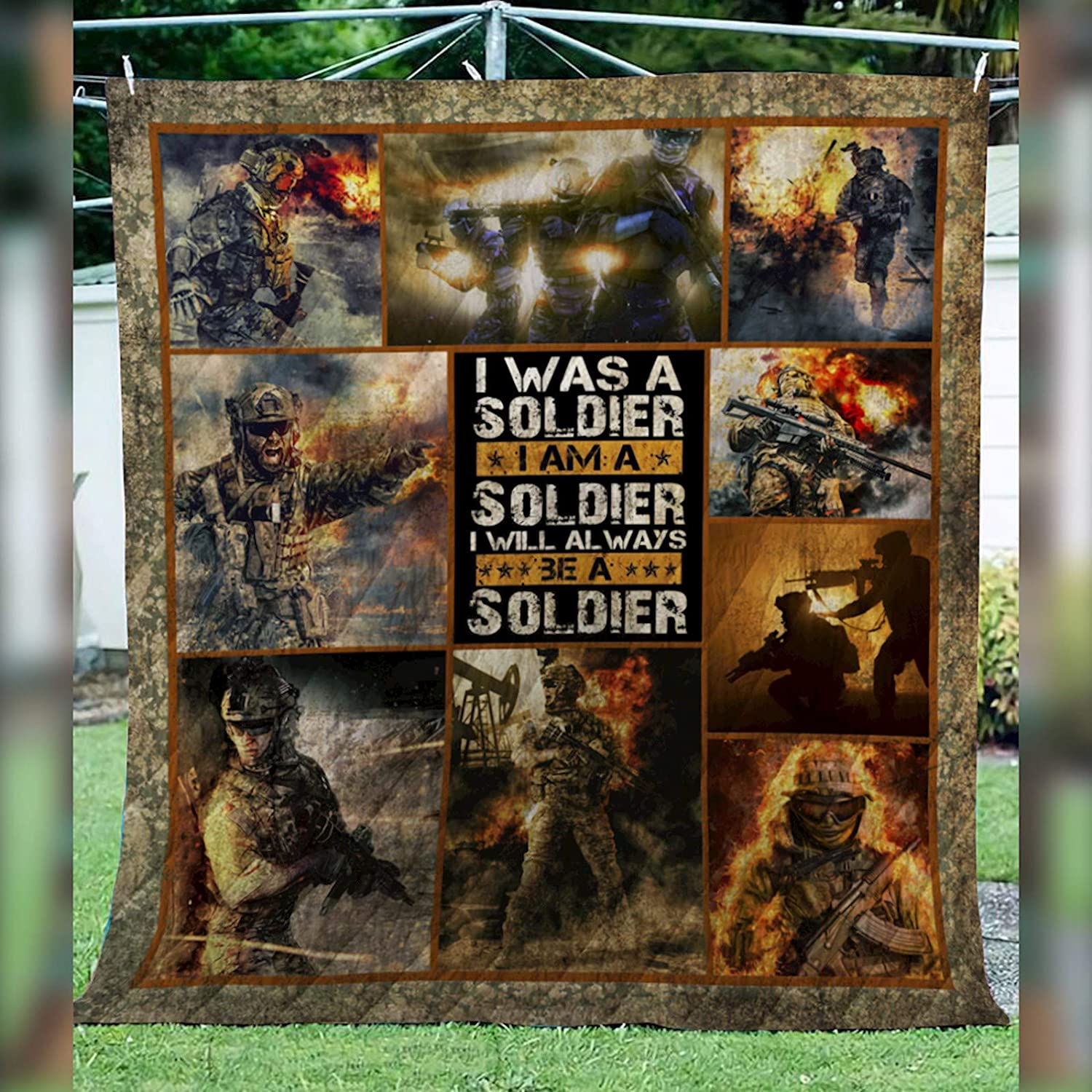 The Loyalty for US Army Quilt D198, Queen All-Season Quilts Comforters with Reversible Cotton King Queen Twin Size - Best Decorative Quilts-Unique Quilted for Gifts