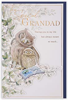Clintons: Grandad Owl With Baby Owlet Birthday Card, 11x15cm