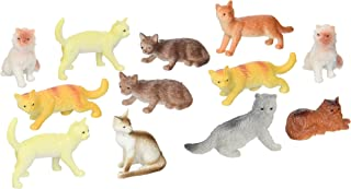 US Toy Dozen Plastic Cat Figures, 2