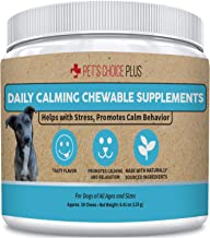 Pet's Choice Plus Daily Calming Chewable Anxiety Relief Supplement. with Thiamine, L-Tryptophan, Lemon Balm Herb & Green T...