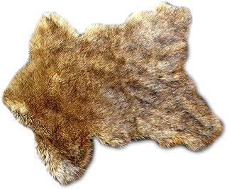 black timber wolf rug