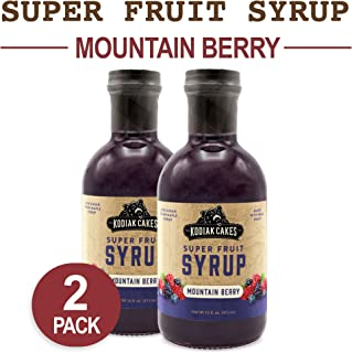 Kodiak Cakes Super Fruit Syrup, Mountain Berry, 16 oz (Pack of 2)