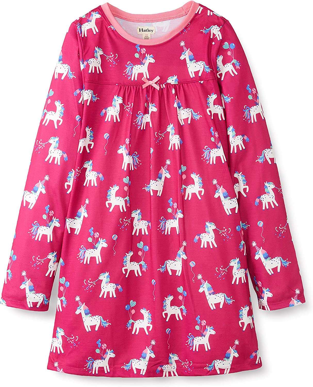 Hatley Kids Girl's Party Horses Long Sleeve Nightdress (Toddler/Little Kids/Big Kids)