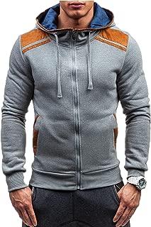 Modfine Men's Long Sleeve Zip-Up Casual Fleece Hoodie Coat Sweatshirt Jacket