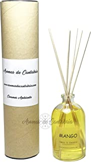 Ambientador casa Mango Aromas de Cantabria® 100ml, fabricado en España, 100% natural,artesanal, hecho a mano, original, 16...