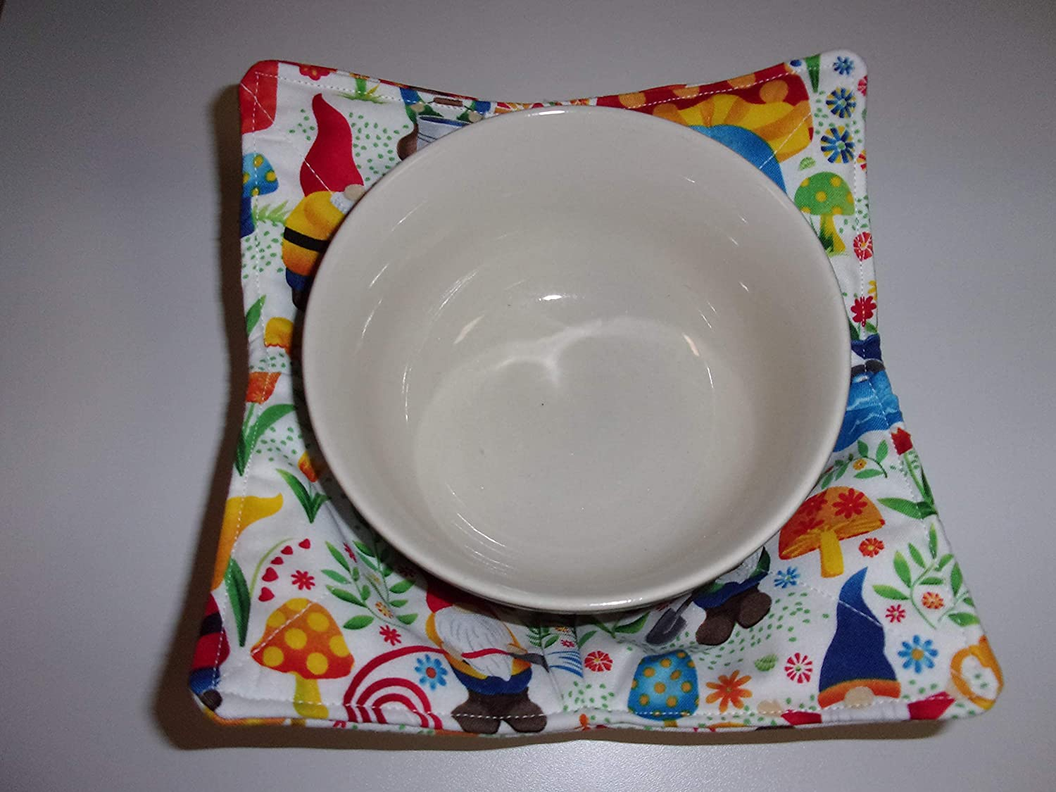 Microwave Bowl Cozy Cozies Gnome Be Gnomes Happy Worry New product Sale special price Woodland