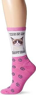 Grumpy Cat Women's Single Pack Stay Grumpy Crew Socks