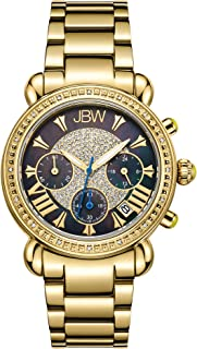 "JBW Women's JB-6210""Victory"" Three Sub-Dial Chronograph Diamond Watch for Women with Analog Display"