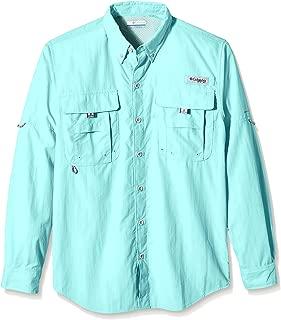 Columbia Outdoor Standard PFG Bahama II Long Sleeve Shirt, Gulf Stream, Large