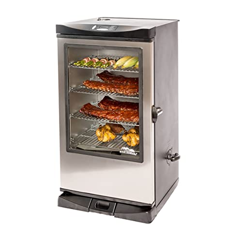 Masterbuilt 20075315 Front Controller Smoker with Viewing Window and RF Remote Control, 40-Inch