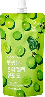 Sugarlolo Konjac Jelly, Healthy and Natural Weight Loss Dietary Supplement, 150mL X 10 Packs (Green Grape)