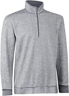 Print Tweed Fleece Half-Zip Pullover Golf Shirt Z97277 Medium Gray