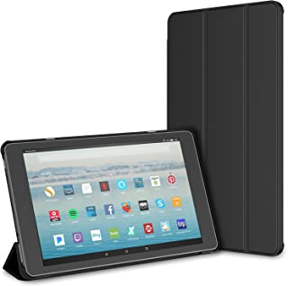 "JETech Case for Amazon Fire HD 10 Tablet 10.1"" (7th Generation, 2017 Release Only) Smart Cover with Auto Sleep/Wake (Black)"