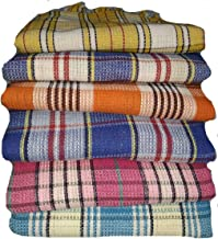 GOPAL SONS Metro Handloom Woven 100% Cotton Bath Towel (Size- 71 x 147 cm) (Multi Colours- Assorted) (Pack of 01 Pc.)