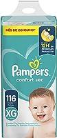 Fralda Pampers Confort Sec XG - 116 fraldas