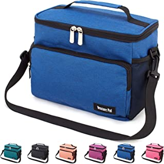 Leakproof Reusable Insulated Cooler Lunch Bag – Office Work Picnic Hiking Beach..