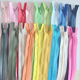 LoveinDIY 18 zíperes invisíveis de nylon para roupas, almofada, costura, artesanato