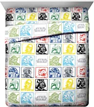 Jay Franco Star Wars Classic Grid Queen Sheet Set - 4 Piece Set Super Soft and Cozy Kid's Bedding Features Luke Skywalker...