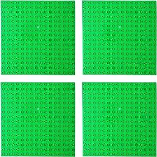 EKIND 基礎板 ブロック プレート デュプロと互換性 ベースプレート レンガのおもちゃ ブロックプレート 4枚セット ライトグリーン