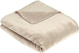 Amazon Basics Plaid en Peluche Toucher Velours pour la Chambre, Sable, 168 x 229cm