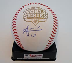 Joaquin Arias Autographed Ball - 2012 World Series w COA S F Giants Tigers #1 - Autographed Baseballs