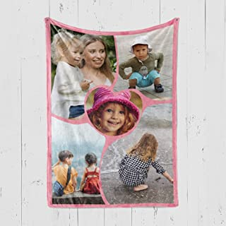 PEAK Custom Photo Collage Blanket Personalized with Your Pictures. Family Throw Blanket with Over 30 Customizable Design Templates. (50