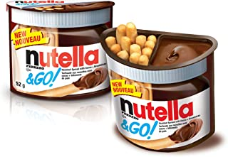 Nutella Ferrero & Go Hazelnut Spread & Malted Bread sticks, 48g - Pack of 2