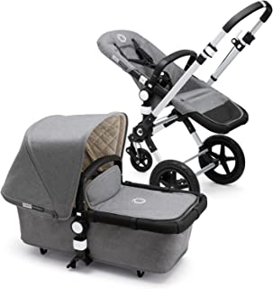 Bugaboo Cameleon3 Classic Complete Stroller, Grey Mélange - Versatile, Foldable Mid-Size Stroller with Adjustable Handlebar, Reversible Seat and Car Seat Compatibility