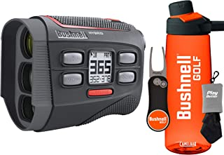 Bushnell Hybrid Golf Laser/GPS Rangefinder Gift Set with Premium Water Bottle, Pitchfix Divot Tool & Microfiber Towel | Pinseeker Jolt, 5X, 1000 Yards | 201835 (+Bushnell Gift Set)