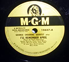 78 RPM, M-G-M 10687, 1949, George Shearing Quintet, I'll Remember April