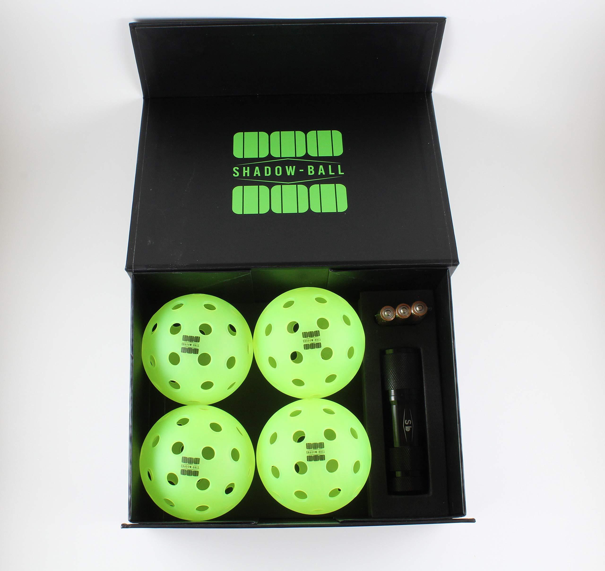 Shadow-Ball Pickleball Gift Glow in The Dark Pickleballs 4 O