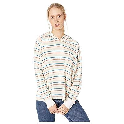 LNA Brushed Carly Hoodie (Rainbow Stripe) Women
