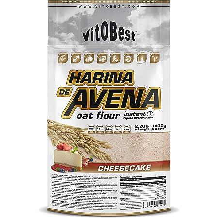 Harina de Avena Sabores Variados - Suplementos Alimentación y Suplementos Deportivos - Vitobest (Fresa, 1 Kg)