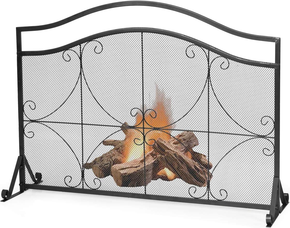 "Tangkula Cheap mail order shopping 44.5"" X Rare 33"" Inch Fireplace Sing Screen Decorative Iron"