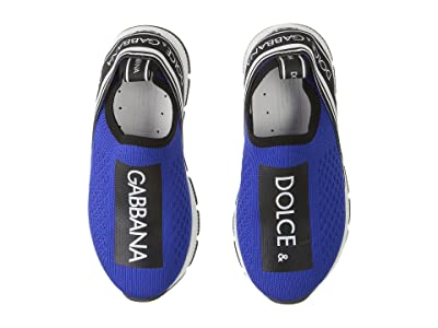 Dolce & Gabbana Kids Jersey Slip-On Sneaker (Toddler/Little Kid) (Blue/Black) Kid