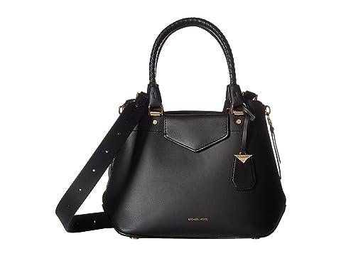 b59452d0e free shipping michael kors smooth leather medium black tote 85869 2e39a