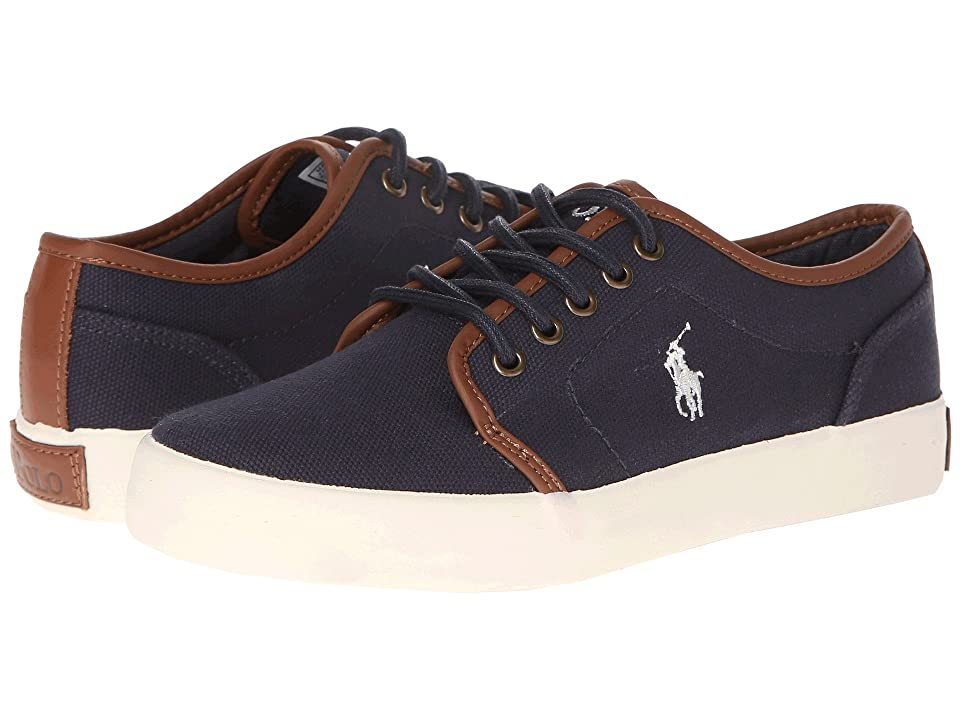 Polo Ralph Lauren Kids Ethan Low (Big Kid) (Navy Ballstic Canvas) Boys Shoes