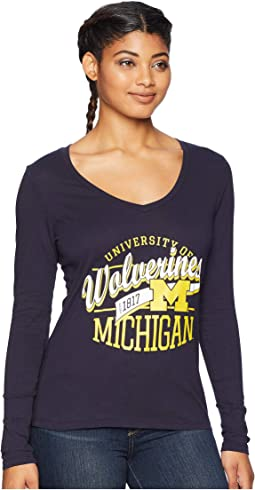Michigan Wolverines Long Sleeve V-Neck Tee
