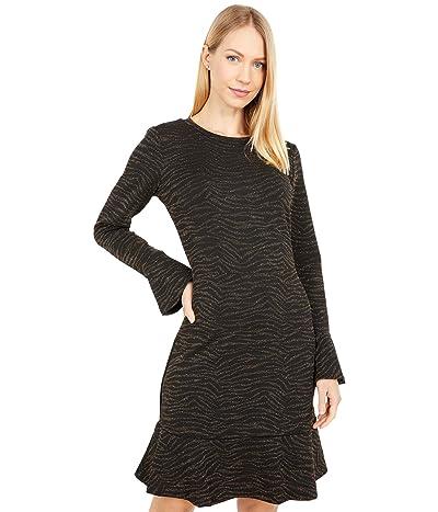 MICHAEL Michael Kors Siberian Long Sleeve Ruffle Dress (Caramel) Women