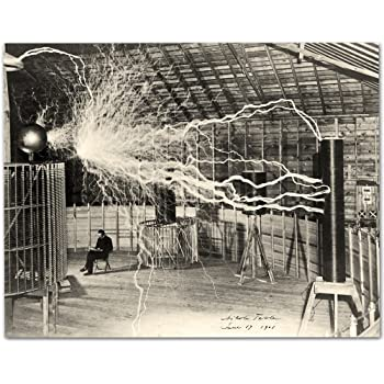 Nikola Tesla's Lightning Equipment Photograph - 11x14 Unframed Photo Print - Makes a Great Gift Under $15 for Inventors and Engineers