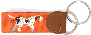 Hand-Stitched Needlepoint Key Fob or Key Chain by Huck Venture