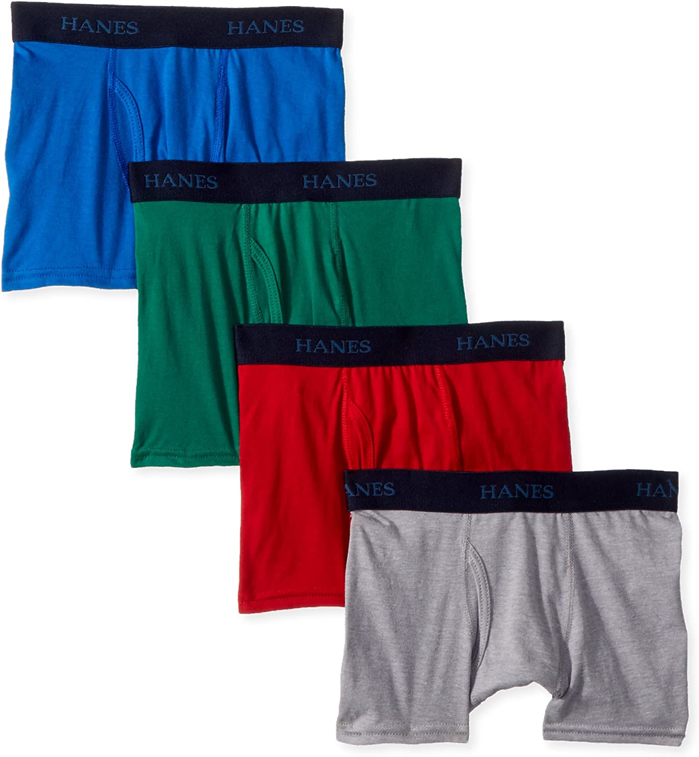 Hanes Boys' Big Ultimate Dyed Boxer Brief 4-Pack: Clothing