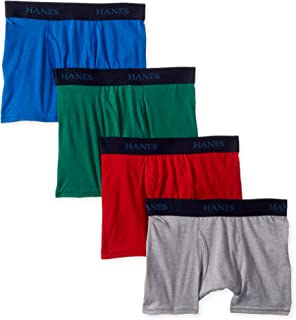 Hanes Boys' Big Ultimate Dyed Boxer Brief 4-Pack