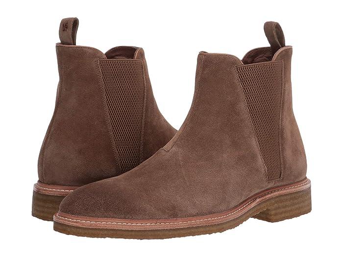 John Varvatos  Leroy Crepe Chelsea (Brownstone) Mens Pull-on Boots