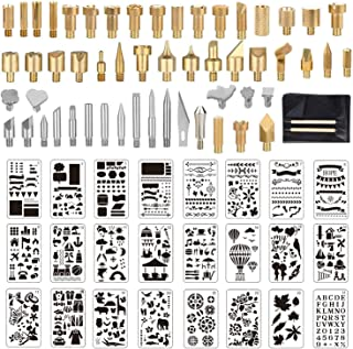 Wood Burning Tool Kits Carving Iron Tip for Embossing//Adults//Beginners//Birthday//Wedding Anniversary//Halloween//Christmas DIY 23Pcs Pyrography Wood Burning Tips