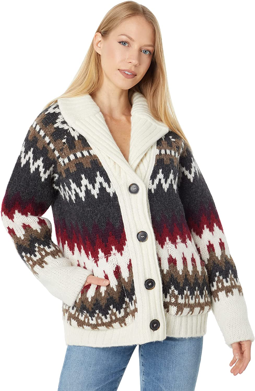 Pendleton Women's Alpaca Fair Isle Cardigan Sweater